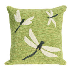 "Frontporch Dragonfly Pillow, Green, 18""x18"""