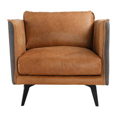 Messina Leather Arm Chair, Cognac