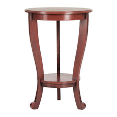 Delightful Safavieh   Safavieh Mary Pedastal Side Table, Red   Side Tables And End  Tables