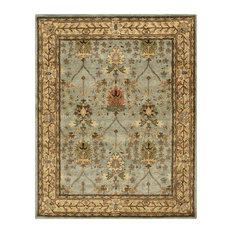 EORC Hand-tufted Wool Blue Traditional Oriental Morris Rug, Rectangular 5'x8'