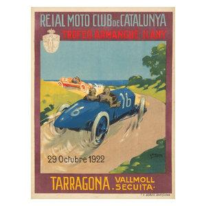POSTER 1922 TROFEO ARMANGUE TARRAGONA CAR RACE SPAIN VINTAGE REPRO FREE S//H
