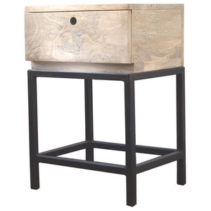 Double Zero Mango Wood Side Table