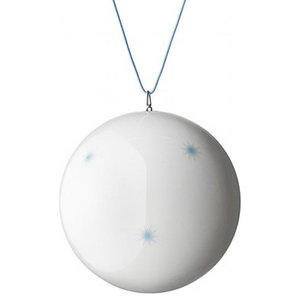 Anne Black Xmas Ball Ornament, Light Blue, Large