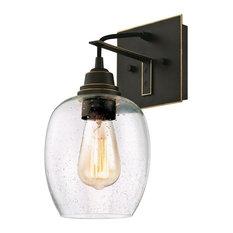 "Westinghouse 6333200 Eldon 1 Light 6-1/4""W Bathroom Sconce - Bronze"