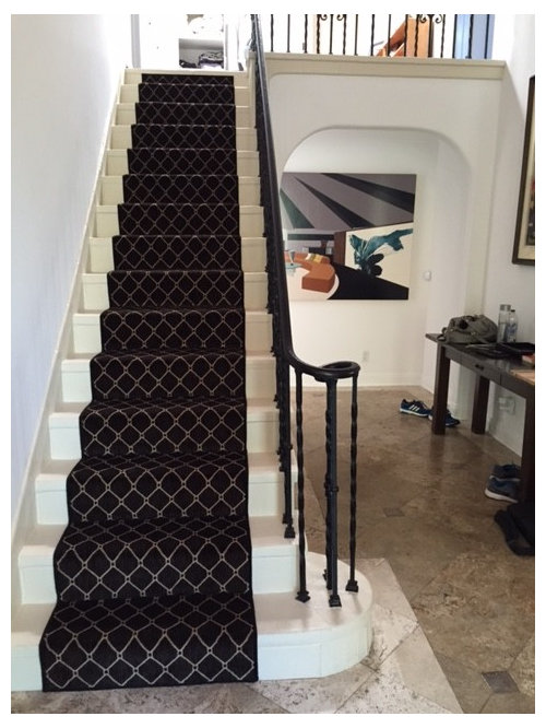 gerade mediterrane treppen ideen design bilder houzz. Black Bedroom Furniture Sets. Home Design Ideas
