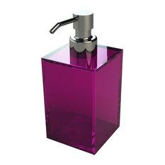 Modern Square Soap Dispenser, Pink