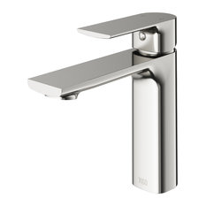 VIGO Davidson Single Hole Bathroom Faucet, Brushed Nickel