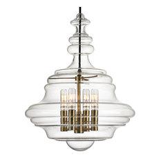 Washington 4-Light, Pendant, Aged Brass