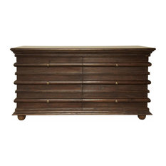 ASCONA Chest Hand-Rubbed Brown Mahogany 6 -Drawer