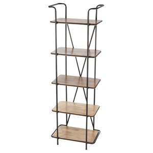 GwG Outlet Metal Wooden Shelf 23  x71