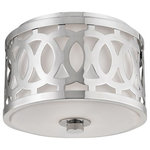 Hudson Valley Lighting - Genesee 4310-PN 1 Light Small Flush Mount, Polished Nickel - Adorn your space with the finely crafted details of the Genesee flush mount. A filigreed ring encircles Genesee's opal glassware, giving ornamental appeal to a ceiling standard. The elegant metal cornice embodies the fixture's classic beauty.