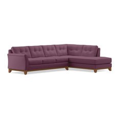 Apt2B - Marco 2-Piece Sectional Sleeper Sofa, Amethyst, Chaise on Right - Sleeper Sofas