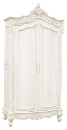 Gentil French Chateau Carved Armoire White   Armoires And Wardrobes