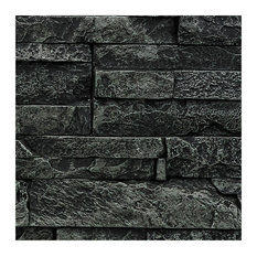SAMPLE - Faux Stacked Stone Wall Panel - Almond - Midnight