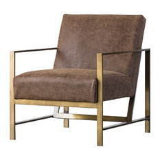 Francis PU Leather Arm Chair