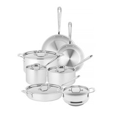 - All-Clad - Stainless Steel Cookware Set 6pce + Steamer - Cookware Sets