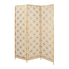 Uma Enterprises Rustic Elegance Metal Wire Three Panel Screen Multi Color Screens