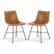 Poly and Bark Paxton Dining Chair, Set of 2, Tan