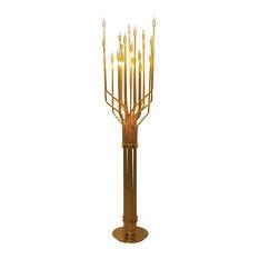 """Barrister 21 Light 70"""" Floor Lamp, Gold"""