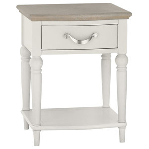 Denali Washed Oak and Grey 1-Drawer Nightstand
