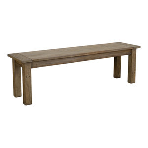 """Driftwood Reclaimed Pine 60"""" Bench by Kosas Home"""