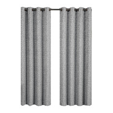 "Fiorela Jacquard Grommet Curtains, Gray, 54""x84"", Single"