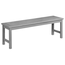 Transitional Outdoor Benches by Walker Edison