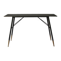 Moes Home Industrial Console Table, Black