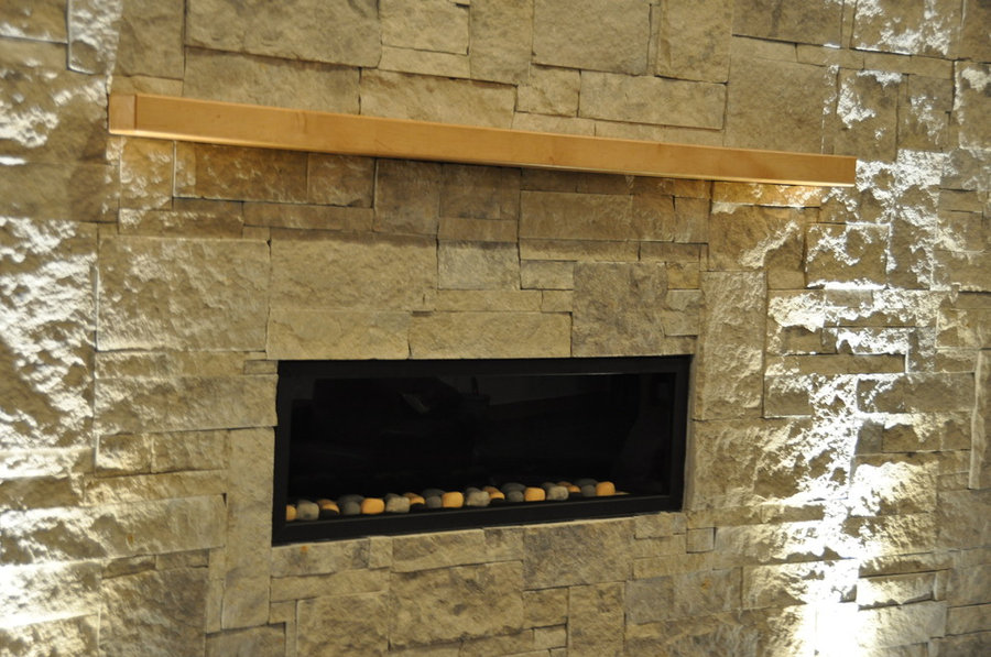 maple fireplace mantel
