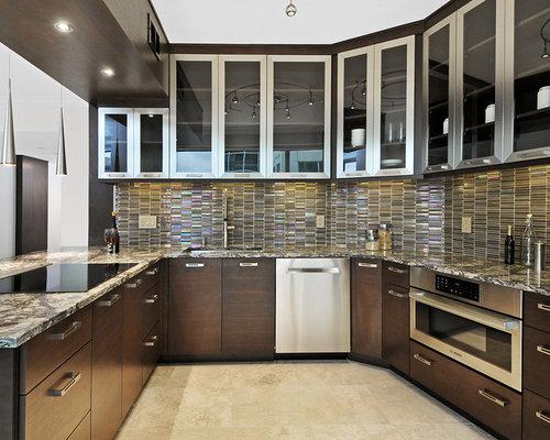 CONTEMPORARY WALNUT KITCHEN CABINETS - Kitchen Cabinetry