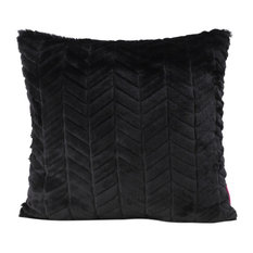 GDF Studio Ellison Fabric Pillow With Polyester Fiber Fill, Black, 1