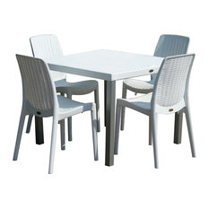 Small Table and 4 Chairs, White