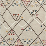 """Well Woven - Moroccan Trellis Area Rug Ivory, 7'10"""" X 9'10"""" - This rug features chunky, textured yarn and a contemporary, Moroccan trellis design. Warm, neutral tones and subdued colors of red, blue, and yellow complete a design that is soft, stylish, and affordable. The stain and fade resistant materials are easy to clean, meaning less hassle and a rug that looks better for longer. The jute backing is wood floor safe and the edges are serged for increased durability, so it can be placed in any room."""