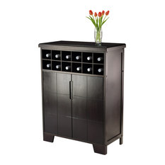 Winsome   Winsome Wood Bonnay Espresso Transitional Wine Storage   92632    Wine And Bar Cabinets