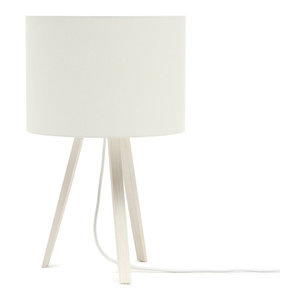 Short Luca Stand Uni Table Lamp, White