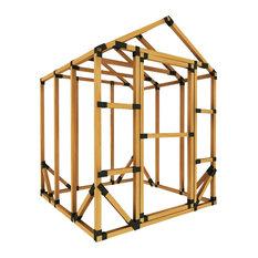 6ft W x 6ft D E-Z Frame Standard Storage Shed Kit, No Floor