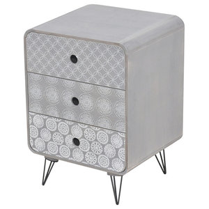 VidaXL Side Cabinet With 3 Drawers, Grey