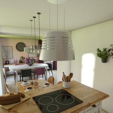 Cuisine & salle à manger conviviales