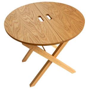 Noxi Folding Side Table, Natural Oak