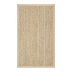 Winifred Natural Fibre Area Rug With Beige Border, 120x180 cm