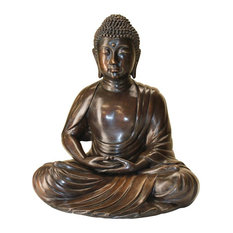 Design Toscano   Meditating Buddha Cast Bronze Garden Statue   Garden  Statues And Yard Art