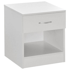 Simple Modern Bedside Cabinet, White