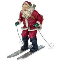Polyresin Santa Skiing
