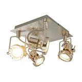 Taleja square LED ceiling lamp, four-bulb