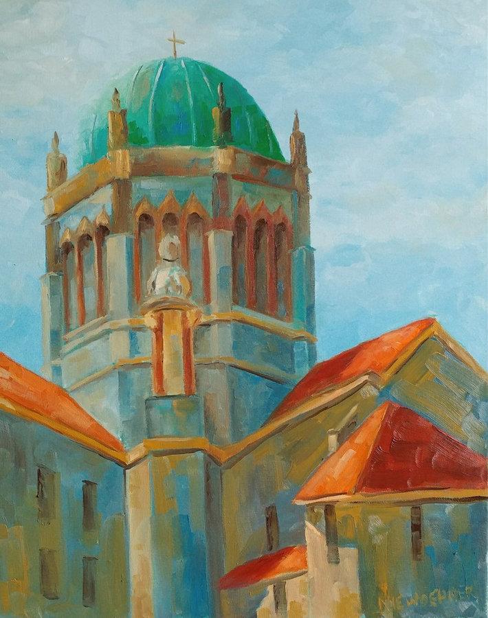 Memorial Presbyterian, St. Augustine, 20x16, framed