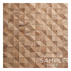 Waves - Reclaimed Wood Tiles by Wonderwall Studios