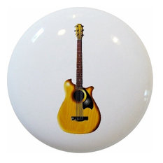 Brown Guitar Ceramic Knob