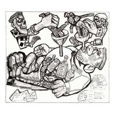 "Pavel Filonov Pedagogics, 20""x25"" Gallery Wrapped Canvas Print"