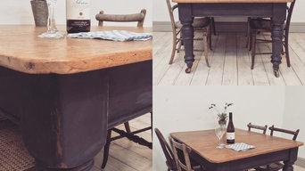Painted Antique Table - Graphite
