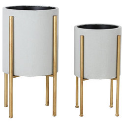 Contemporary Indoor Pots And Planters by Aspire Home Accents, Inc.